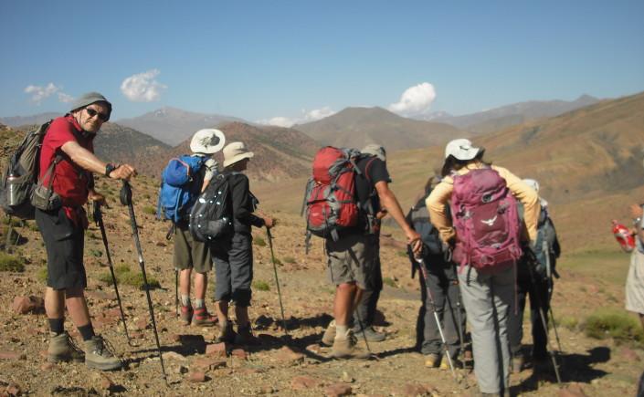 Randonnée en montagne au Maroc