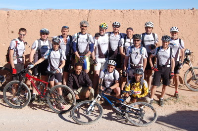 Mountain bike through the desert of southern Morocco