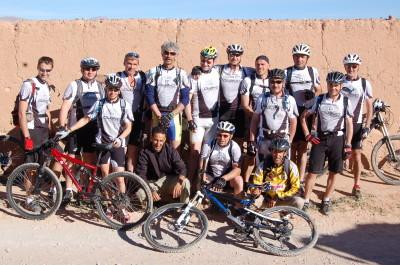 Mountain bike through the desert of southern Morocco
