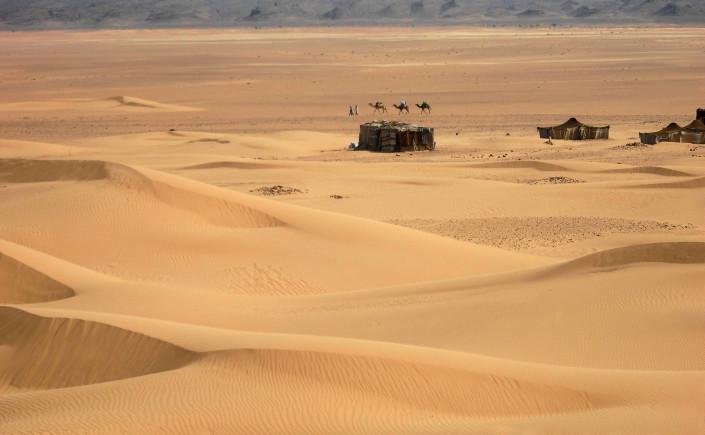 Randonnée dunes de chgaga au Maroc